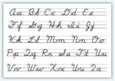 Cursive Alphabet Printable, Cursive Letters Worksheet, Alphabet Cursif, Cursive Writing Practice Sheets, Letter Practice Sheets, Teaching Cursive, Handwriting Practice Worksheets, Alphabet Worksheets, Writing