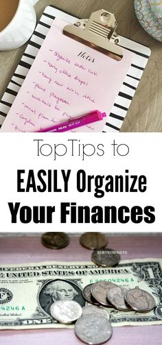 Best tips EVER to organize your finances. It was WAY easier than I thought!
