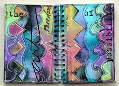 art journal page from KortteiluFlow . doodling and watercolor . Art Journal Pages, Art Journals, Paper Art, Doodles, Watercolor, Abstract, Artwork, Pen And Wash, Summary