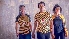 Nike Launch Kaizer Chiefs Home Shirt - SoccerBible Kaizer Chiefs, Soccer Teams, Anniversary Logo, Football Outfits, Football Kits, Black Stripes, The Past, Product Launch, Nike