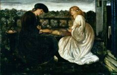 The Backgammon Players by Sir Edward Burne-Jones, 1861-62. Watercolour.
