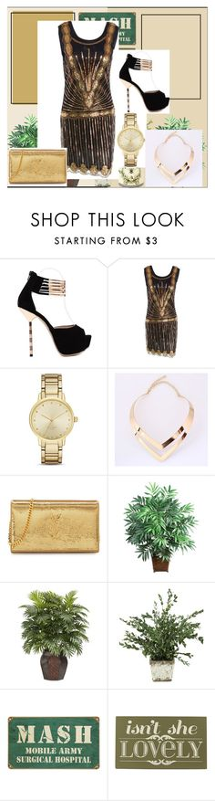"""""""Zaful #21"""" by s-o-polyvore ❤ liked on Polyvore featuring Kate Spade, Yves Saint Laurent, Nearly Natural and Home Decorators Collection"""
