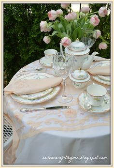 Tea In The Garden  http://rosemary-thyme.blogspot.com/2014/07/a-restful-afternoon-in-garden.html