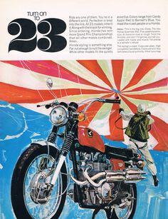 Turn on to 23 | 1960s Honda Scrambler 450