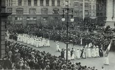 1913 American Women's Suffrage Parade. Look deeper into our ForeMother's Suffrage experience with the novel, 'A Woman's Equal Share' Learn more here: http://www.desertrosebooks.com/A-Womans-Equal-Share-Book-Two-Celtic-Heart-Historical-Fiction-Series-by-Bridget-Geegan-Blanton.html