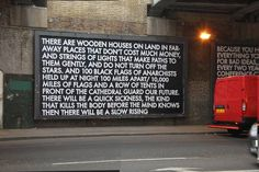 """Scottish artist Robert Montgomery goes about at night illegally plastering over advertisements with posters covered in his poetry."""