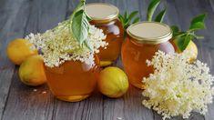 Bezová marmeláda: želé z květů černého bezu s citrony Elderflower Cordial, Edible Plants, Kimchi, Preserves, Pickles, Tiramisu, Cantaloupe, Herbs, Canning