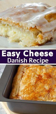 Danish Cake, Danish Food, Danish Pastries, Danish Dessert, Sweet Recipes, Cake Recipes, Dessert Recipes, Cheese Recipes, Brunch Recipes
