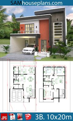 haus design House Design Plans With 3 Bedrooms Plot House Car Parking small garden-Living Dining Kitchens,-Pantry-Wash Modern House Floor Plans, Duplex House Plans, Home Design Floor Plans, House Layout Plans, Family House Plans, Bungalow House Design, Bedroom House Plans, New House Plans, House Layouts