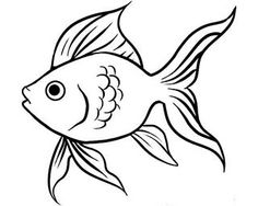 To Draw A Goldfish Step By Step Fish Animals Free Online Drawing Fish Cartoon Drawing, Easy Fish Drawing, Easy Drawing Steps, Fish Drawings, Cartoon Drawings, Animal Drawings, Drawing Templates, Drawing Sketches, Drawing Guide