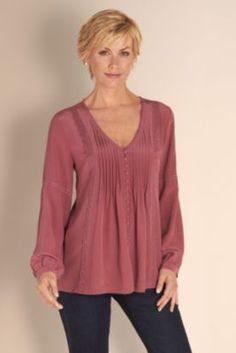 Silk Eloise Shirt   Soft Surroundings