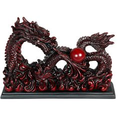 Oriental Furniture Sea Dragon Figurine ($47) ❤ liked on Polyvore featuring home, home decor, furniture, ocean home decor, asian figurines, dragon figurines, dragon figure and oriental home decor