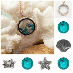 Locket, Chain, & Charms for the beach.