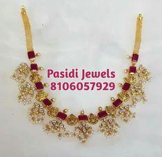 Choker Jewelry, Gold Jewelry, Chokers, Jewellery, Ruby Necklace, Necklace Set, Honey Bunny, Indian Jewelry, Antique Jewelry