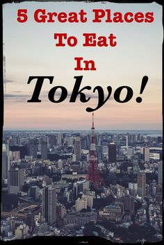 5 Great Places To Eat in Tokyo Japan! A review of 5 unique restaurants in Japan by an ex-pat travel blogger and foodie!: