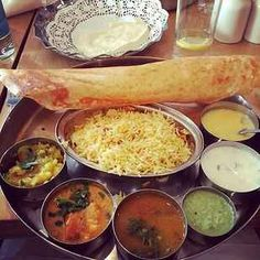 """21 Of The Most Delicious Cheap Eats In London: Lunch at Sagar's Where: Covent Garden, Hammersmith, or Tottenham Court Road Cost: From £3.50 """"South Indian vegetarian food – you get poppas, vegetable curry, pilau rice, sambar, AND dessert for less than a tenner."""" – Helen Parkin on Facebook"""