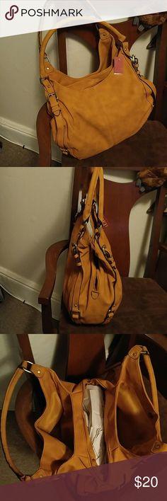 Purse Handbag Caramel colored three section purse Merona Bags