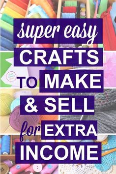 These are cute crafts you can make + sell at craft fairs or flea markets! It's a long list of things to sell…all super simple ideas anyone can do, easy enough for kids & teens. Read this series on ways to make extra money from home as a stay-at-home-mom! Money Making Crafts, Easy Crafts To Make, How To Make Paper, Craft Making, Christmas Crafts To Sell Make Money, Simple Crafts, Mason Jar Crafts, Mason Jar Diy, Craft Business