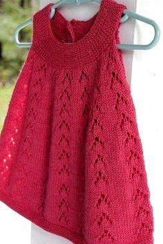 Girls Knitted Dress, Knit Baby Dress, Crochet Girls, Newborn Crochet, Crochet Baby Dress Pattern, Baby Dress Patterns, Tunic Pattern, Baby Knitting Patterns, Baby Kind