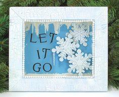 Nicole™ Crafts Let It Go Shadowbox #frozen #craft #disneyfrozen