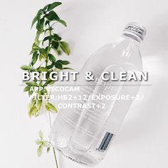 Bright & Clean VSCO Filter: HB2+12/Exposure+2/Contrast+2