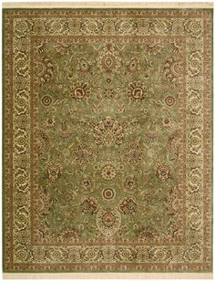 RugStudio presents Nourison Persian Traditions PN-01 Light Green Machine Woven, Best Quality Area Rug