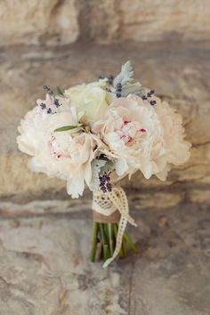 Bridal bouquet inspiration, minus the dusty miller and the lavender
