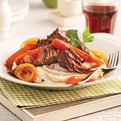 Rôti de palette de boeuf, sauce vinaigre balsamique et érable - Recettes…
