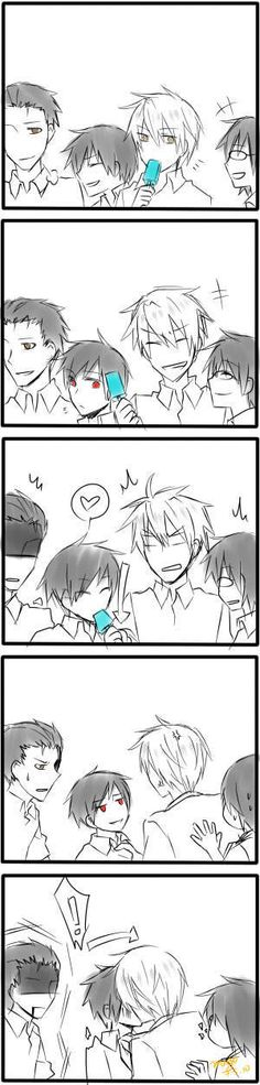 x'DD Izaya and Shizuo's past in one pic: