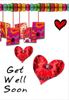 """""""Get well hearts"""" printable card. Customize, add text and photos. print for free! Printable Cards, Free Printables, Get Well Soon Quotes, Loss Of Loved One, Get Well Wishes, Happy Everything, Unicorn Art, Get Well Cards, Creative Cards"""
