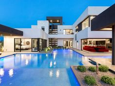 Dream Home Design, Modern House Design, Contemporary Design, Ultra Modern Homes, Dream Mansion, Fancy Houses, Modern Mansion, Luxury Homes Dream Houses, Mansions Homes