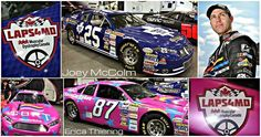 """From the Laps for Muscular Dystrophy Twitter page! """"Look for Joey McColm's & Erica Thiering's Canada's Best Racing Team Inc. race cars supporting #LAPS4MD at a track near you in 2015!"""""""