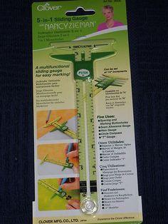 Easy Marking Multifunctional 5 in 1 Sliding Gauge Nancy Zieman Clover 9506 New | eBay