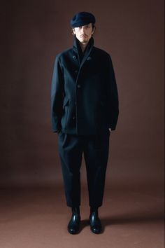 Like the color and the coat, hate the set. fall 2012 menswear: Christophe Lemaire