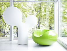 Pastil Chair by Eero Aarnio & Double Bubble Lamp