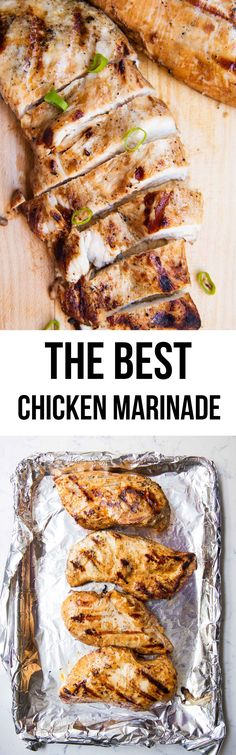 The BEST chicken marinade made with only a few ingredients! Created the most flavorful and tender chicken. Whole 30 approved! Chicken Marinade Recipes, Chicken Marinades, Meat Recipes, Cooking Recipes, Healthy Recipes, Dinner Recipes, Healthy Dinners, Turkey Recipes, Quick Meals