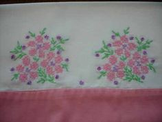 Vintage Pillowcases - Floral Embroidered Pillow Cases