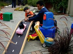 I love this ramp for the cars! Nice udl activity.