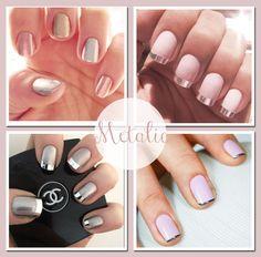 #Metalic #Wedding #Nails