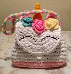 Marvelous Crochet A Shell Stitch Purse Bag Ideas. Wonderful Crochet A Shell Stitch Purse Bag Ideas. Crochet Bag Tutorials, Crochet Projects, Crochet Patterns, Crochet Handbags, Crochet Purses, Kids Purse, Crochet Backpack, Unicorn Kids, Yarn Bag