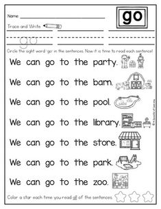 Sight Word Readers and Intervention Activities by A Spoonful of Learning Sight Word Sentences, Teaching Sight Words, Sight Word Worksheets, Reading Worksheets, Phonics Reading, Teaching Phonics, Guided Reading, Reading Comprehension, Learning English For Kids