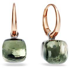 Pomellato Earrings Nudo ($3,180) ❤ liked on Polyvore featuring jewelry, earrings, green, white gold jewelry, green jewelry, pomellato, green earrings and pomellato earrings