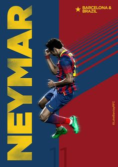 Neymar of Barcelona wallpaper. Football Design, Football Art, Football Match, Neymar Jr, Soccer Stars, Sports Stars, Fc Barcelona, Soccer Poster, Sports Graphics