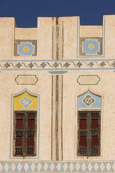 Tarditional facade in Hadramaut - Yemen  Hadramaout facade   © Eric Lafforgue