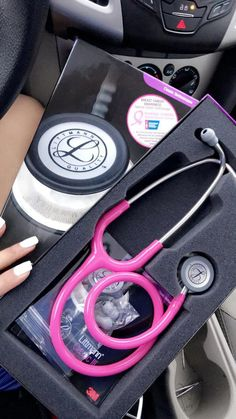 Very first own stethoscope💗 Medical Careers, Medical Assistant, Medical Students, Nursing Students, Medical School, Littmann Stethoscope, Littmann Cardiology, Nurse Stethoscope, Nursing Goals