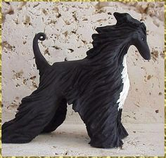 afghan hound sculpture