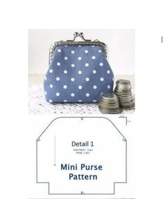 Diy Purse Patterns, Coin Purse Pattern, Coin Purse Tutorial, How To Make Purses, Cross Stitch Kitchen, Frame Purse, Art Bag, Fabric Bags, Sewing Basics