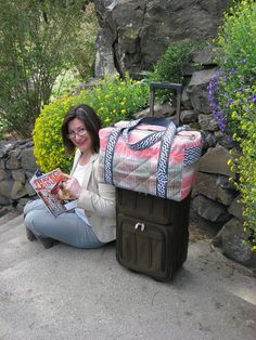 This pattern bundle includes the new trolley duffle pattern, clutch and cases pattern, and my faster luggage tags pattern. Use my 3 most popular