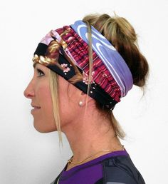 INKnBURN Cherry  Blossom Tech Tube. The banded design on this piece gives you multiple looks depending on how its folded.  For your head, neck, so many ways to wear this piece!