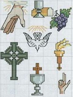 #Gráfico ponto cruz #Ponto cruz #Religioso